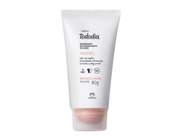 Desodorante Antitranspirante Creme Natura Tododia Noz Pecã e Cacau 80G