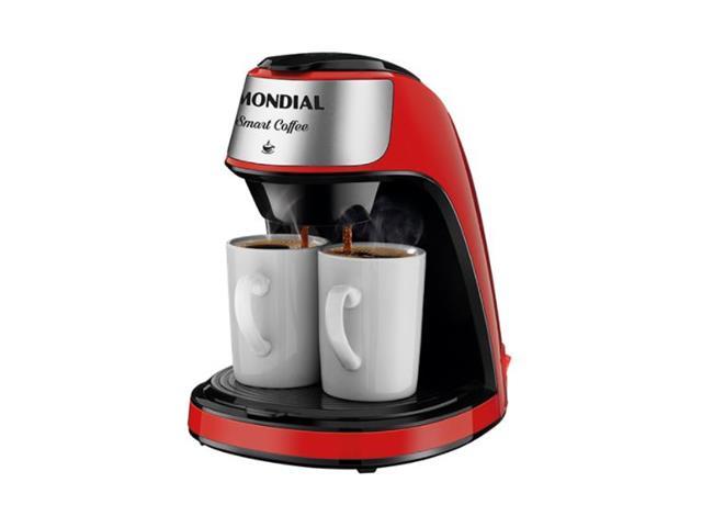 Cafeteira Elétrica Mondial C-42-2X-RI Smart Coffe Vermelha
