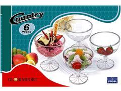 Jogo de Sobremesa Country 6 Taças 380ML - 1