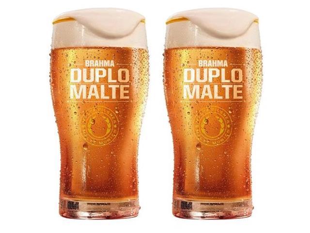 Jogo de Copos para Cerveja Brahma Duplo Malte 2 Peças 425ML