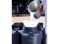 Vasilhame Plástico para Leite Unipac Milkan Cinza com Tampa 10 Litros - 1