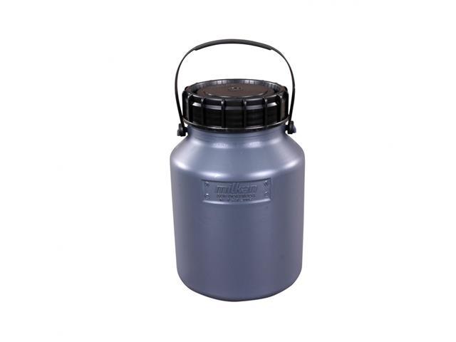 Vasilhame Plástico para Leite Unipac Milkan Cinza com Tampa 5 Litros