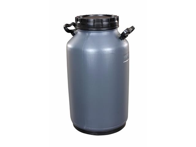 Vasilhame Plástico para Leite Unipac Milkan Cinza com Tampa 50 Litros