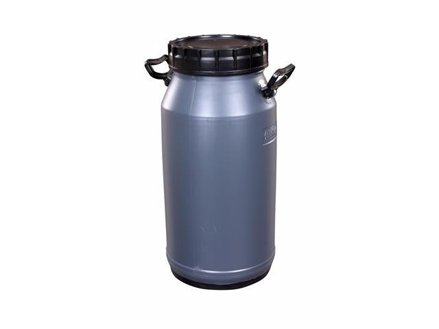 Vasilhame Plástico para Leite Unipac Milkan Plus Cinza com Tampa 30Lts