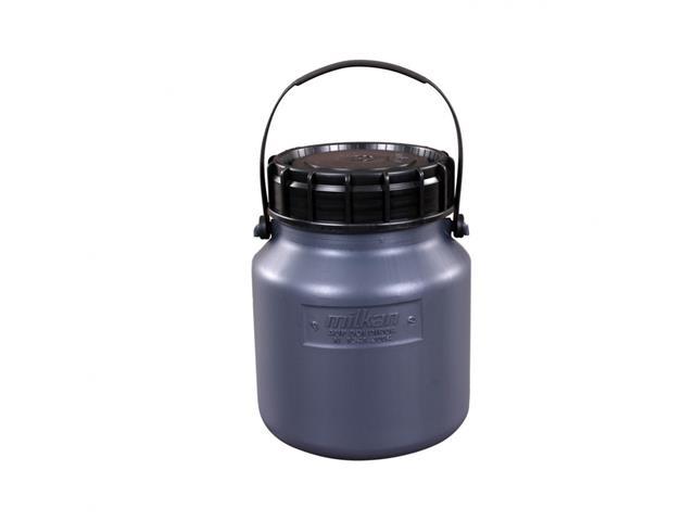 Vasilhame Plástico para Leite Unipac Milkan Cinza com Tampa 3 Litros