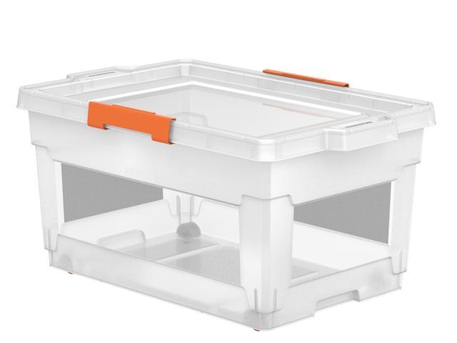 Caixa Organizadora Tramontina com Rodas 60 Litros Transparente