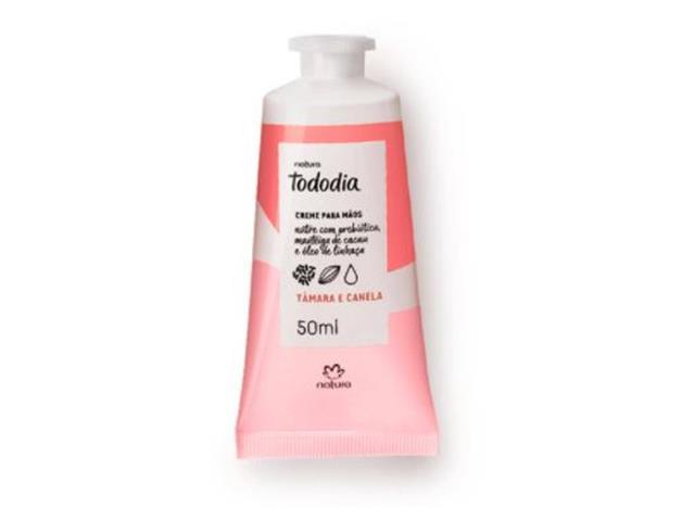 Creme Desodorante Nutritivo Mãos Natura TodoDia Tâmara e Canela 50ML