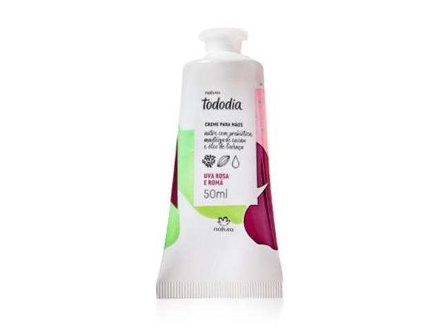 Creme Desodorante Nutritivo Mãos Natura TodoDia Uva Rosa e Romã 50ML