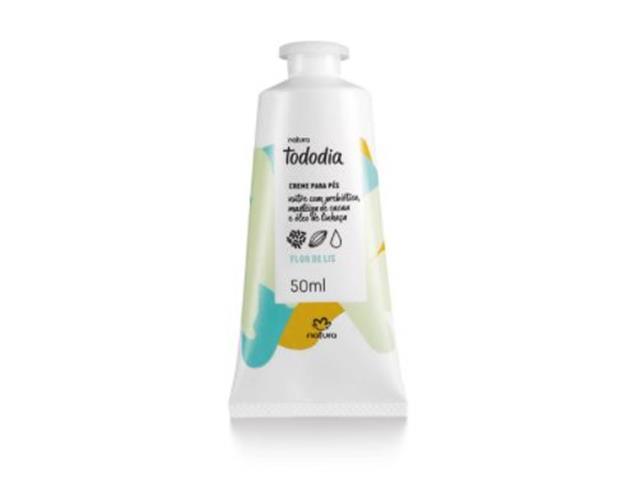 Creme Desodorante Nutritivo para Pés Natura TodoDia Flor de Lis 50ML