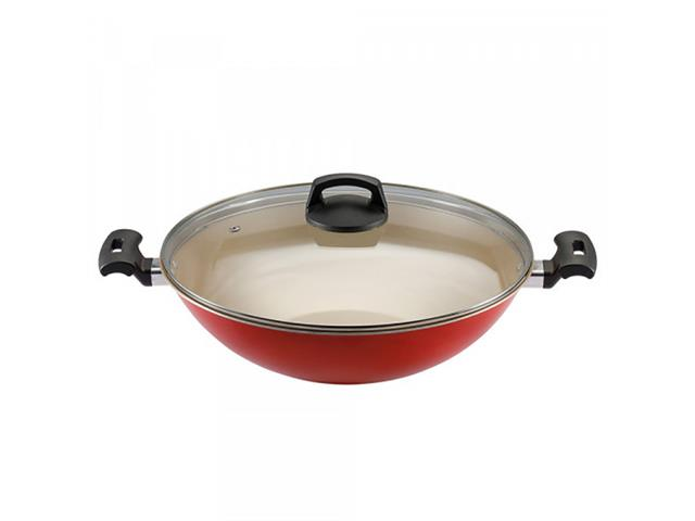 Panela Wok Panelux Antiaderente Vermelha Premium 32