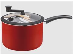 Pipoqueira Panelux Antiaderente Vermelha Tampa de Vidro Premium 22