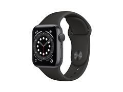 Apple Watch M00H3LZ/A S6 GPS 44mm Alum Gris Espacial Correa Dep Negra