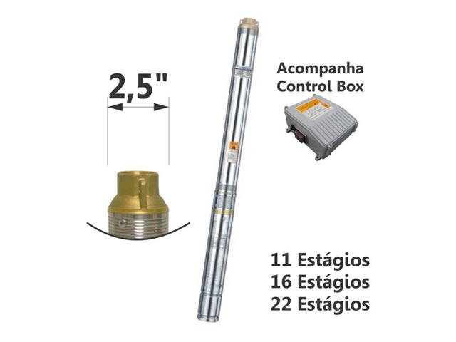 Motobomba Submersa Eletroplas Caneta Inox 1/3CV Monofásico