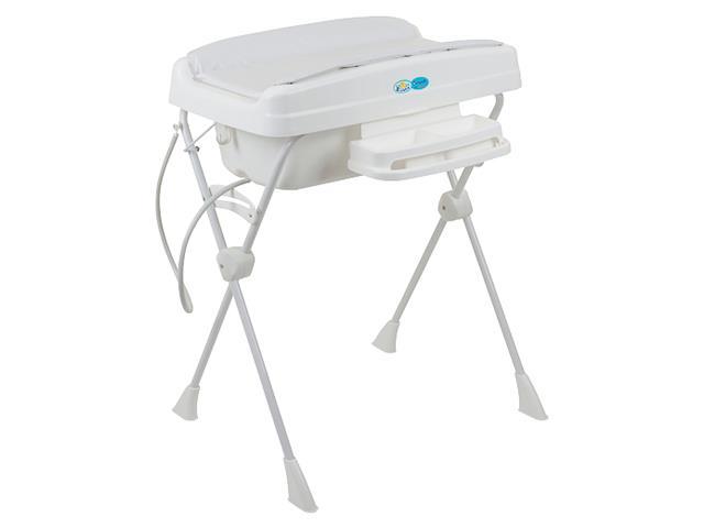 Banheira de Bebê Burigotto Millenia com Suporte e Trocador Branco