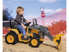 Trator Elétrico Infantil Peg-Pérego John Deere Construction Loader 12V - 8