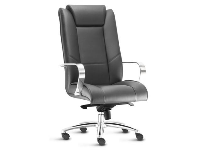 Cadeira New Onix Presidente Preta Cromada e Rodízio para Carpete