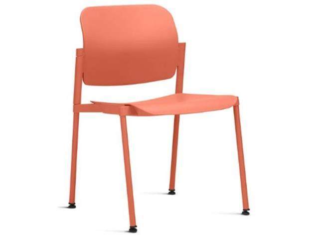 Cadeira Leaf Fixa Laranja Sem Braços