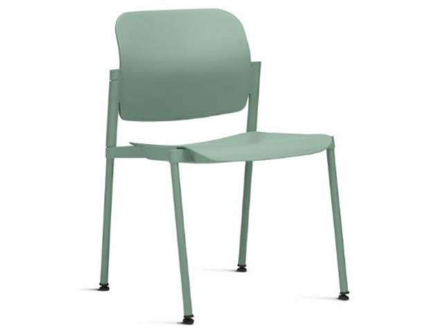 Cadeira Leaf Fixa Verde Sem Braços