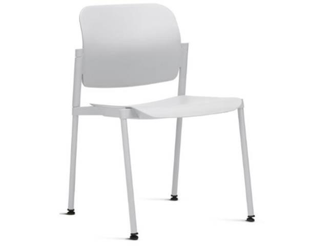 Cadeira Leaf Fixa Branca Sem Braços
