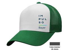 Gorra Impulso Bayer blanco con verde