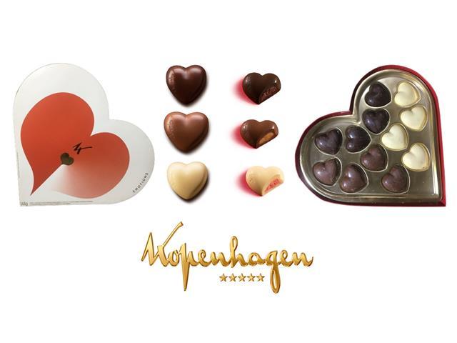 Caixa Bombons Coração Recheados Kopenhagen 12 Unidades