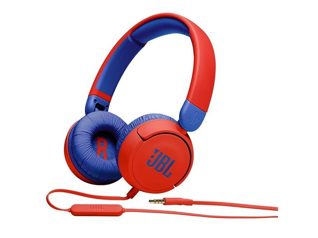 Fone de Ouvido Infantil com Fio JBL Vermelho e Azul JBLJR310RED