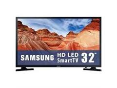 "V SAMSUNG 32"" Pulgadas 81 CM 32T4300 LED HD Smart TV Plano Negro"