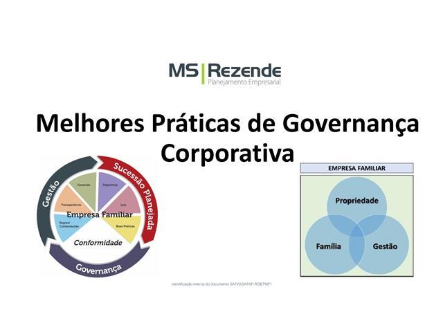Melhores práticas de Governança Corporativa - MS REZENDE