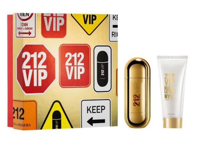 Kit Carolina Herrera 212 VIP EDP 80ML + Hidratante Corporal 100ML