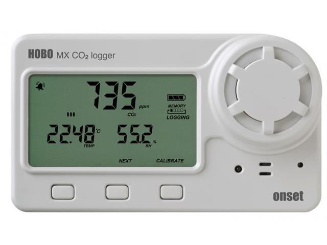 Medidor de dióxido de carbono (CO2), de temperatura y humedad para int