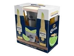 Pack CORONA: mini frapera para limones, destapador y tabla de cortar