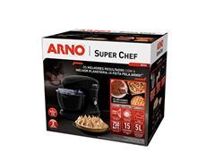 Batedeira Planetária Arno Super Chef 700W 5 Litros 15 Vel Preta 220V - 3