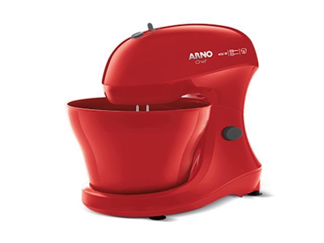 Batedeira Híbrida Arno Chef 5 Litros 400W Vermelha 110V