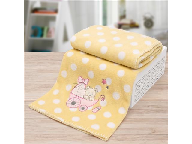 Manta Infantil para Berço Buettner Microfibra Baby Amarela