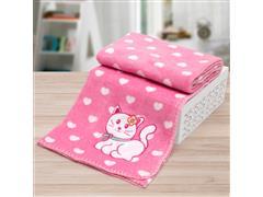 Manta Infantil para Berço Buettner Microfibra Baby Prety Cat Pink