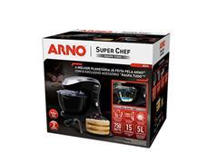 Batedeira Planetária Arno Super Chef Maxi 700W Preta 110V - 4