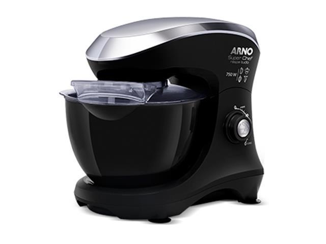 Batedeira Planetária Arno Super Chef Maxi 700W Preta 220V