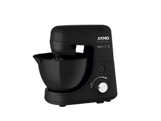 Batedeira Planetária Arno Nova Deluxe 600W Preta 110V