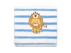 Manta Infantil para Berço Buettner Microfibra Baby Lion King Azul - 1