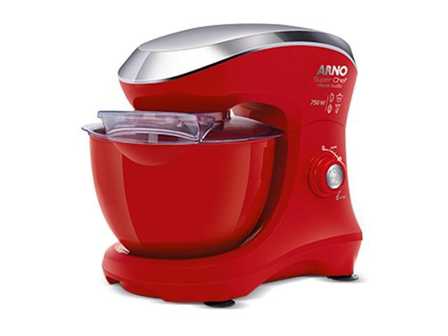 Batedeira Planetária Arno Super Chef Maxi 700W Vermelha 110V