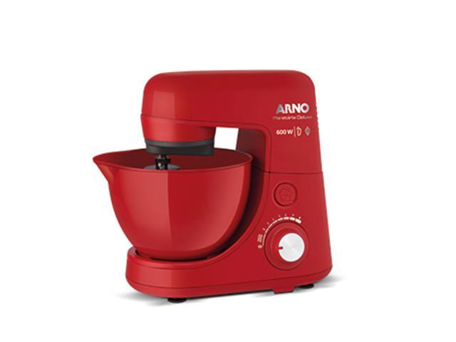 Batedeira Planetária Arno Nova Deluxe 600W Vermelha