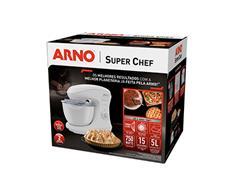 Batedeira Planetária Arno Super Chef 700W 5 Litros 15 Vel Branca - 3