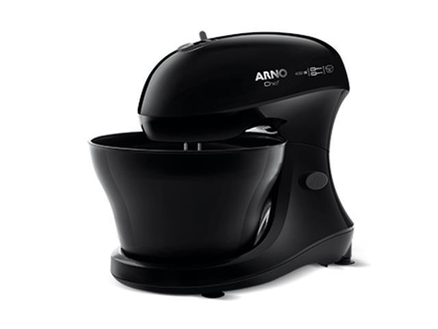 Batedeira Híbrida Arno Chef 5 Litros 400W Preta