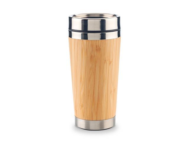 Mug Metálico con Bamboo 500ml