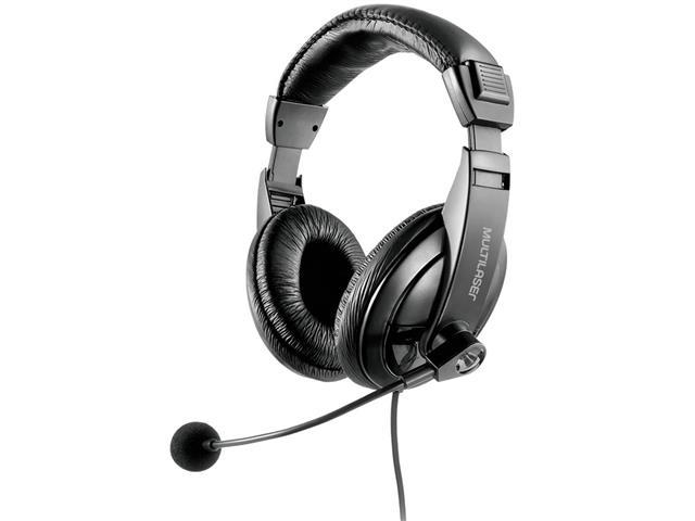 Fone de Ouvido Headset Multilaser PH245 USB Giant Preto