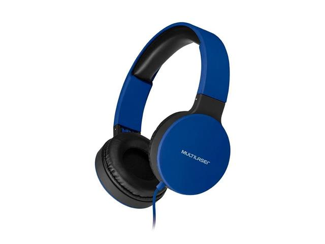 Fone de Ouvido Headphone Dobrável Multilaser PH272 New Fun P2 Azul