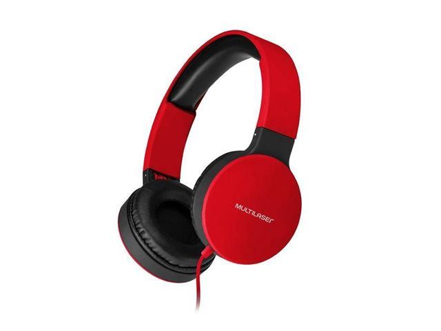Fone de Ouvido Headphone Dobrável Multilaser PH270 New Fun P2 Vermelho