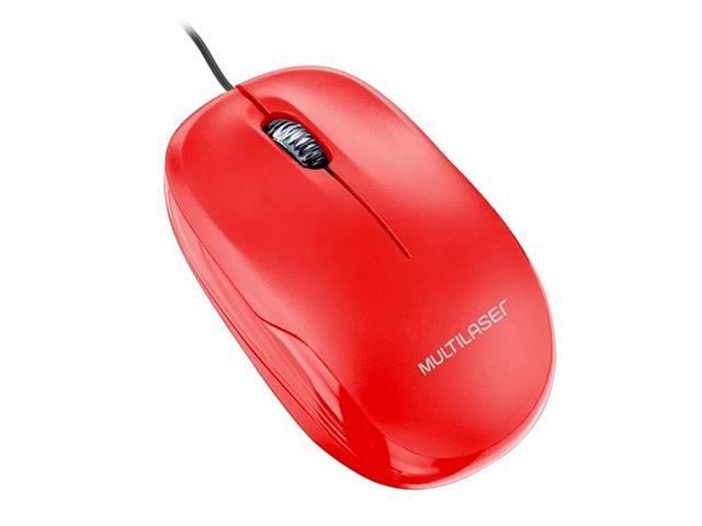 Mouse Box Óptico Multilaser MO292 USB Vermelho