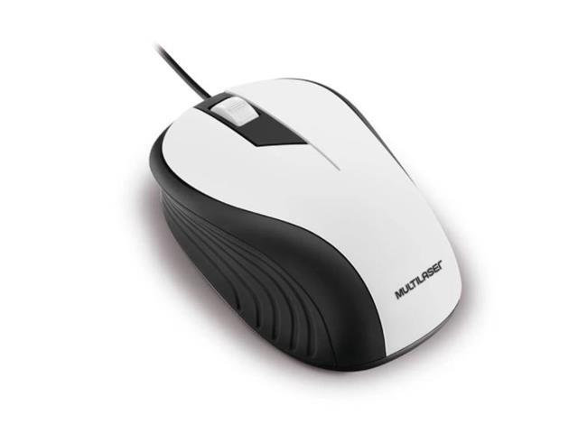 Mouse Multilaser MO224 Emborrachado USB 1200DPI Branco