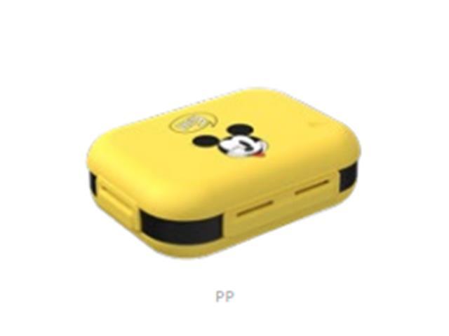 Marmita Hermética Nutri Coza Disney Preta e Amarela